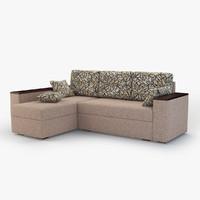 3d model corner sofa natali