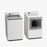 load washer dryer 3d model