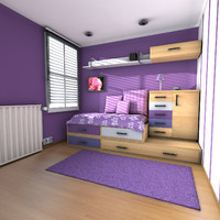 3d teen room teenage