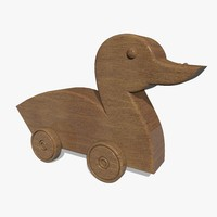 3ds max wooden toy duck