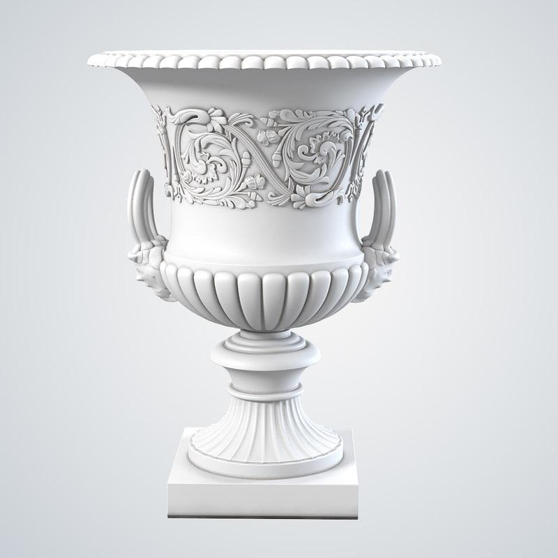 b Victorian Cast Iron Garden Urn baroque classic vase planter vintage antique 0001.jpg