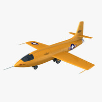 bell supersonic aircraft planes 3d model