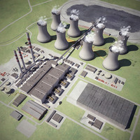 coal-fired thermal power station obj