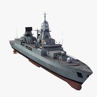 f124 sachsen class frigate 3ds