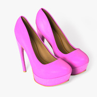 3d model shoes female foot