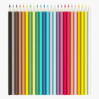 colored pencil set 3d model
