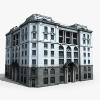 3d model of building europe european