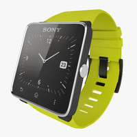 sony xperia smartwatch 3d model