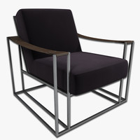 lounge chair 3d 3ds