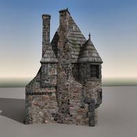 3d model house edinburgh scene