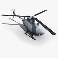 uav drone scout mq-8 3d model