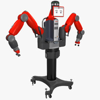 industrial baxter robot 3d 3ds