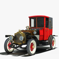 3ds max 1912 packard landaulet vintage car