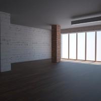 loft interior 3d model