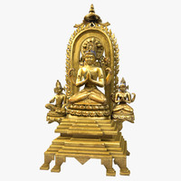 buddha sculpture statue 3d model