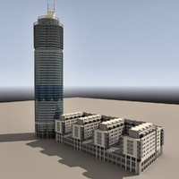 3dsmax modern building architecture