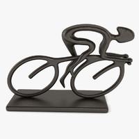 bike racer statue 3d dxf
