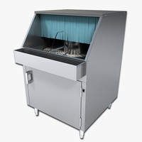 counter dishwasher 3d model