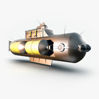 3ds fantasy submarine steampunk