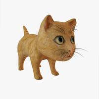 red kitten 3d model
