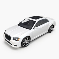 3d 2013 chrysler 300 srt8 model