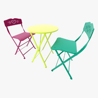 3d model fermob chair cceur