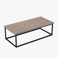 3d model rockwood table wood