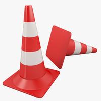 road cone 3d max