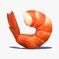 3d shrimp model