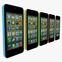 3d apple iphone 5c 5 model