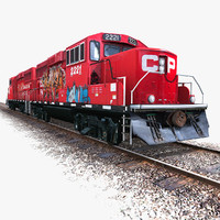 ready locomotive engine train 3d model