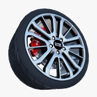 3d range rover wheel tire