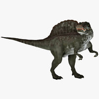 3d spinosaurus prehistoric modelled model