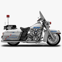 3ds max nypd motorcycle