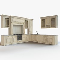 kitchen wood 3d model