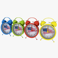 3d model alarm clock usa