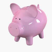 pig money bank 3d model