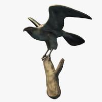 obj eagle statue