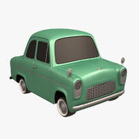 3d anglia toon car model