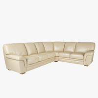 3d leather corner sofa model