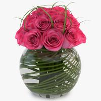 3d rose pink model