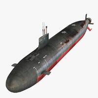 3ds max uss seawolf ssn-21 submarine