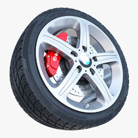 3ds max bmw 1 wheel tire