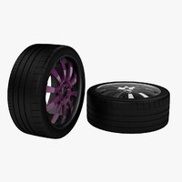 rim michelin tire 3d model