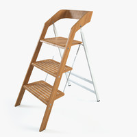 Vintage Usit Stepladder Chair 3-Step Version Set