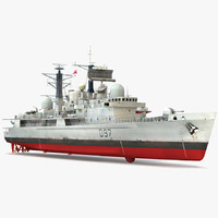 hms edinburgh d97 type 3d model