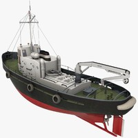 3d model tugboat crane