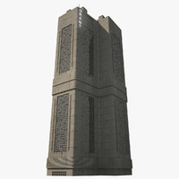 3d futuristic tower mega model