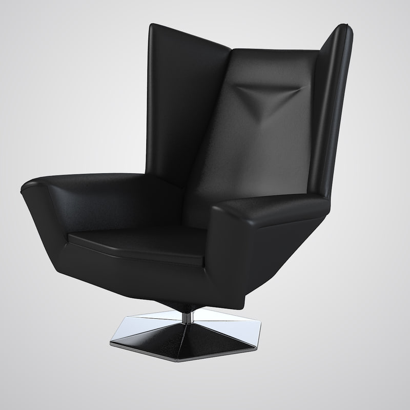a Prisma Chair By Voitto Haapalainen art deco swivel modern contemporary lounge boss leather wing 0001.jpg