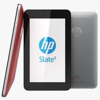 3d obj hp slate 7 tablet